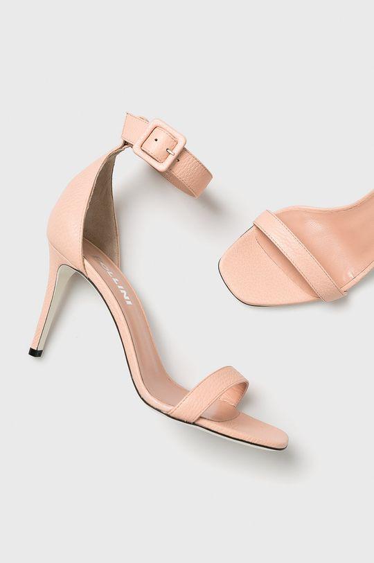pastelově růžová Pollini - Sandály