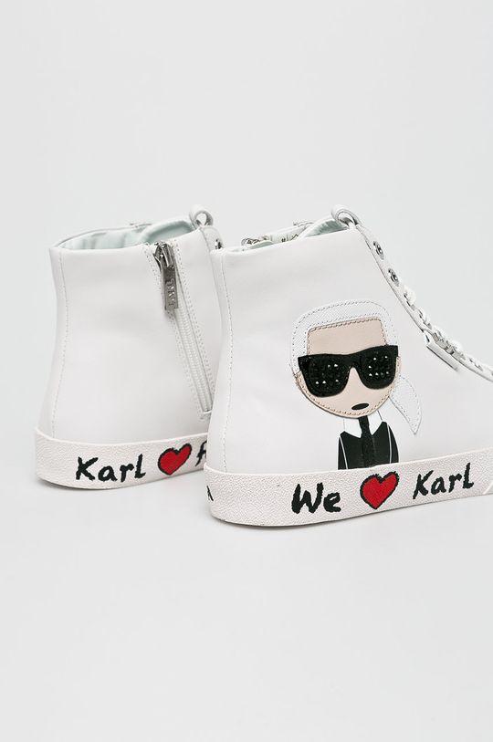 fehér Karl Lagerfeld - Cipő Skool Karl Ikonic Hi Lace