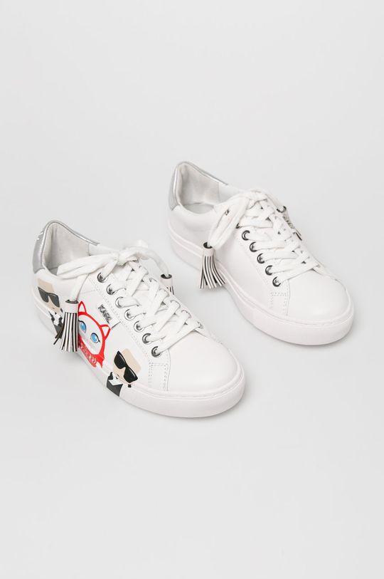 Karl Lagerfeld - Cipő Kupsole Karl in Tokyo fehér
