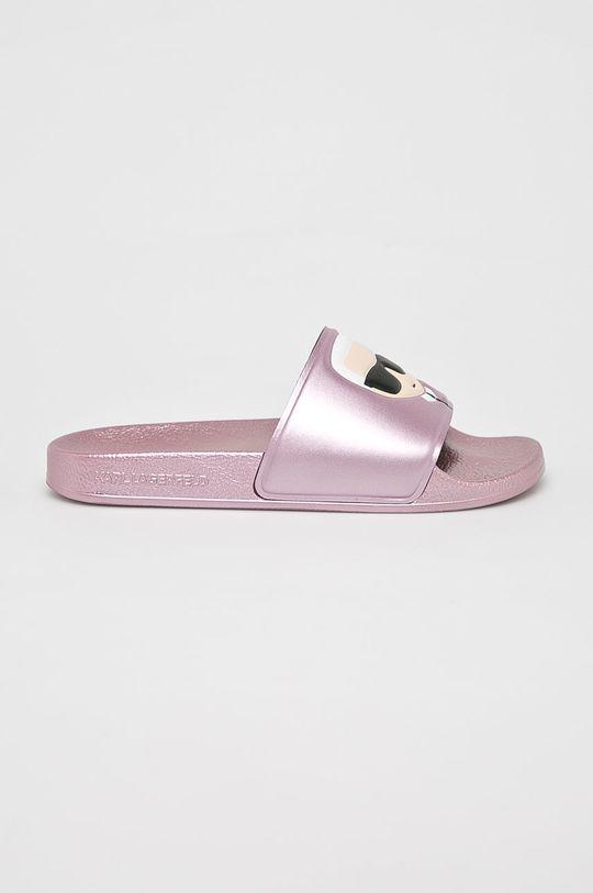 pirosas rózsaszín Karl Lagerfeld - Papucs cipő Kondo II Női