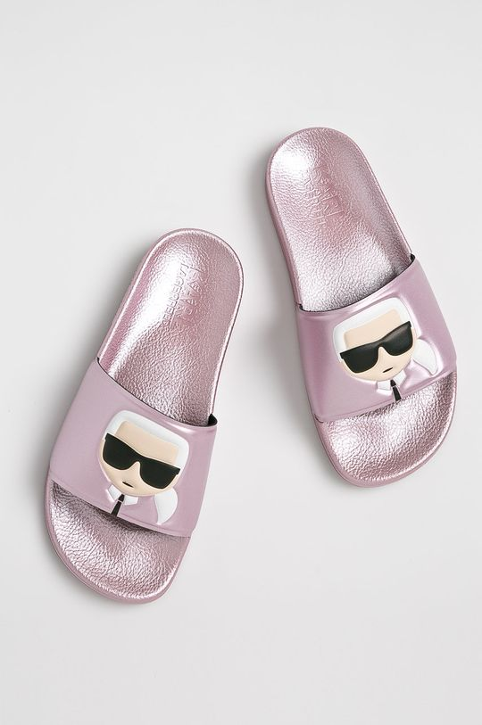 Karl Lagerfeld - Papucs cipő Kondo II pirosas rózsaszín