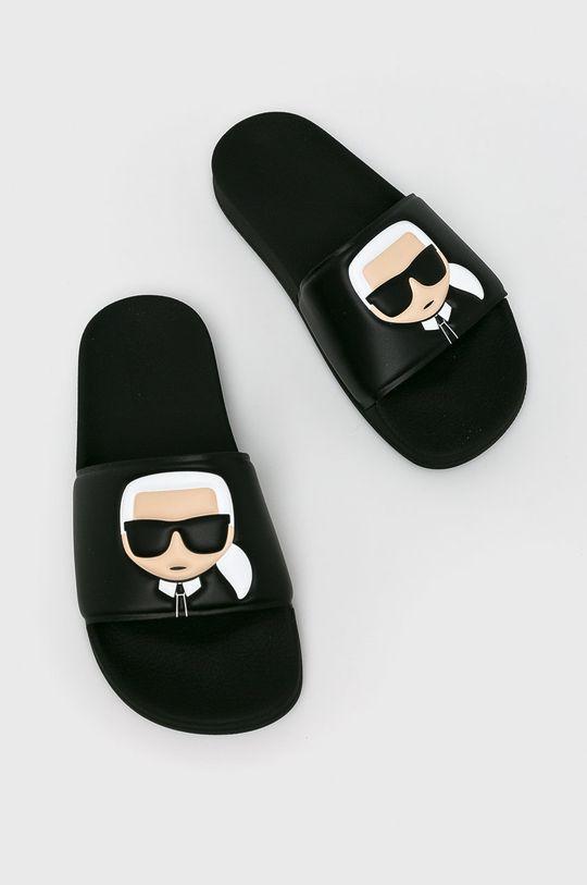 Karl Lagerfeld - Šľapky Kondo II čierna