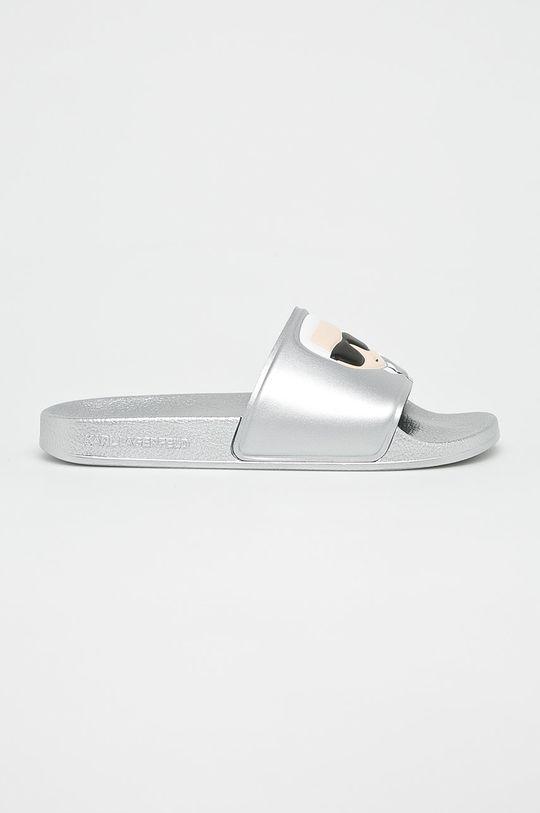 argintiu Karl Lagerfeld - Papuci Kondo II De femei