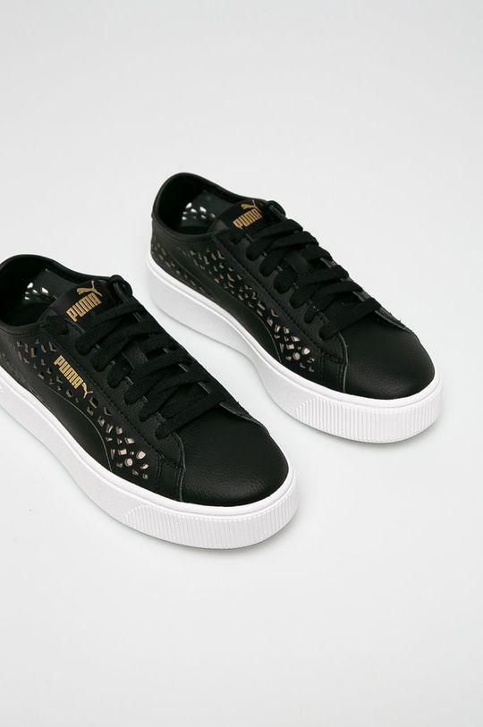 Puma - Cipő Vikky Stacked Laser Cut fekete