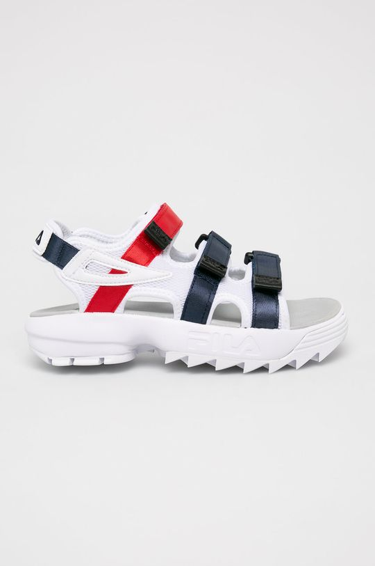 biały Fila - Sandały Disruptor Damski