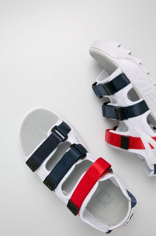 biały Fila - Sandały Disruptor