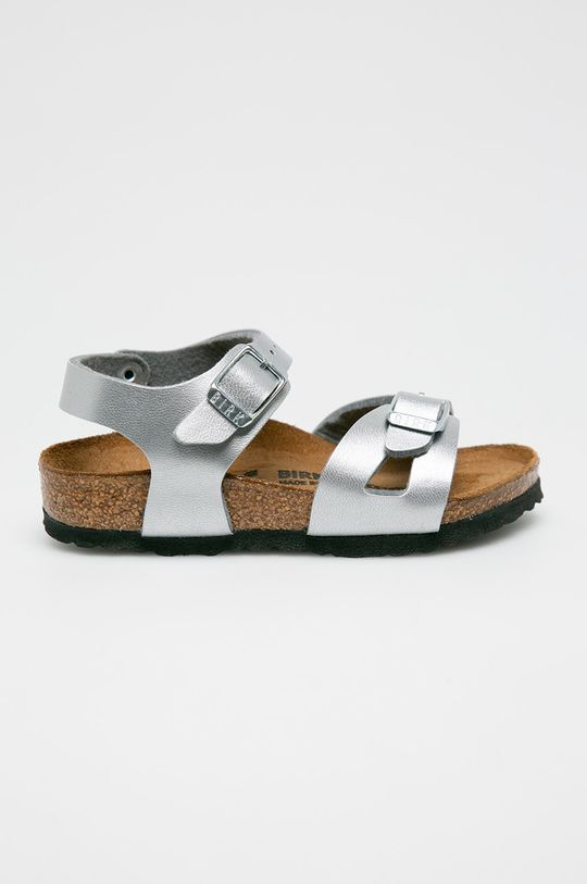 srebrny Birkenstock - Sandały dziecięce Dziewczęcy