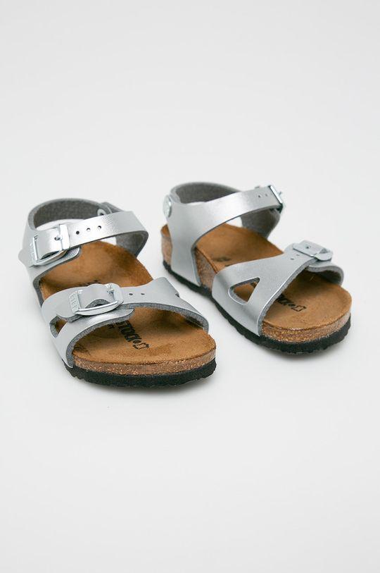 Birkenstock - Sandały dziecięce srebrny