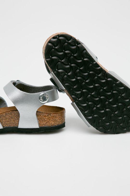 srebrny Birkenstock - Sandały dziecięce