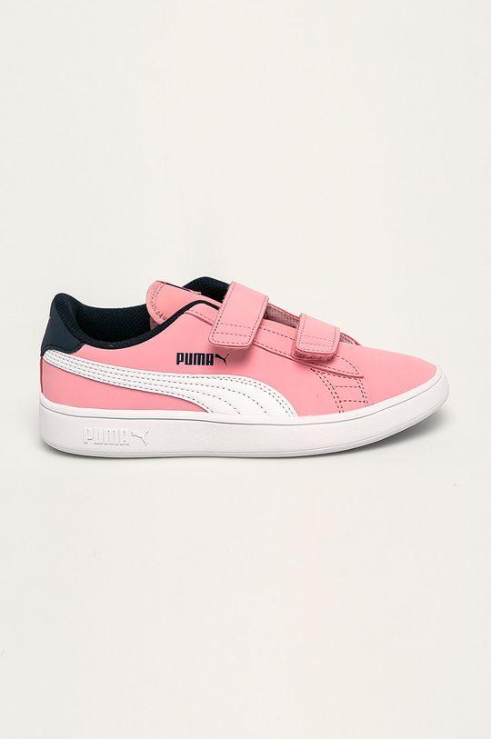 roz Puma - Pantofi copii Smash v2 Buck V Ps De fete