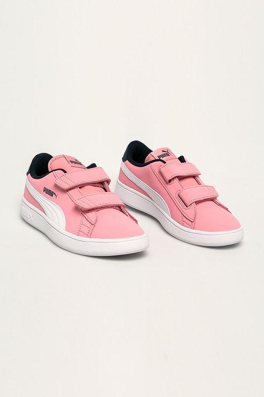 Puma - Pantofi copii Smash v2 Buck V Ps roz