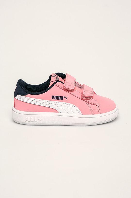 roz Puma - Pantofi copii Smash v2 Buck V Inf De fete