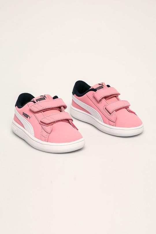 Puma - Pantofi copii Smash v2 Buck V Inf roz