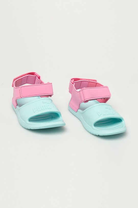 Puma - Detské sandále Divecat v2 Injex bledá tyrkysová
