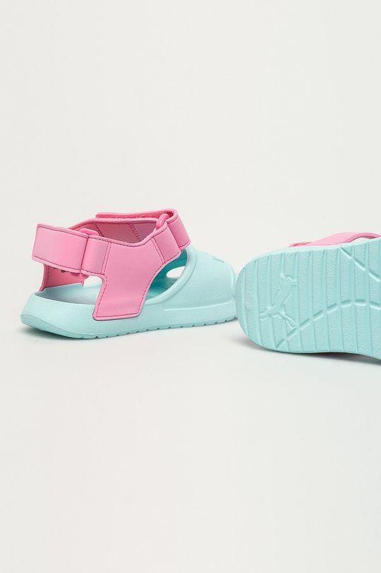 bledá tyrkysová Puma - Detské sandále Divecat v2 Injex