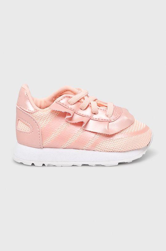ružová adidas Originals - Detské topánky Dievčenský