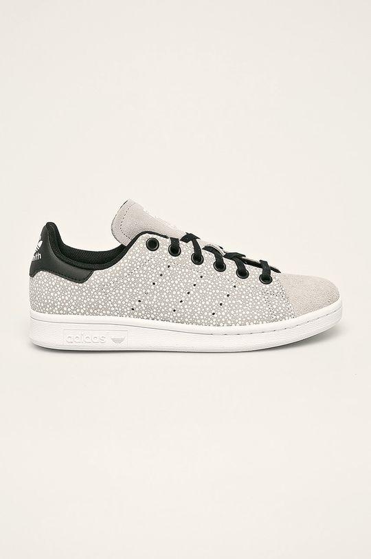 svetlosivá adidas Originals - Detské topánky Stan Smith Dievčenský