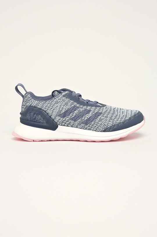 fialová adidas Performance - Detské topánky Rapidarun X Knit El Dievčenský