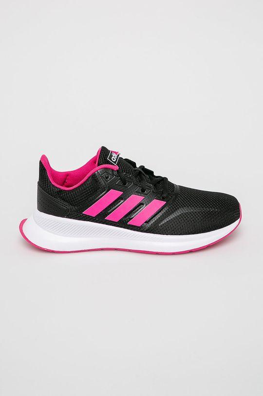 čierna adidas Performance - Detské topánky Runfalcon Dievčenský