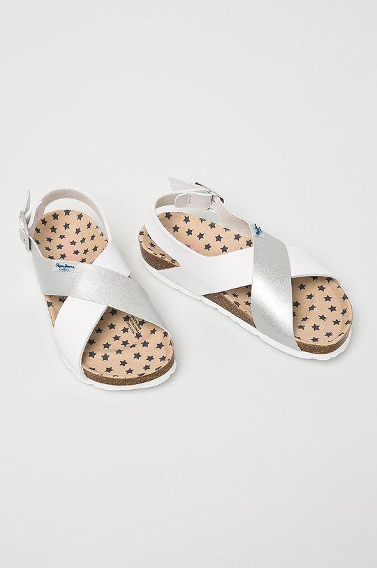 Pepe Jeans - Dětské sandály stříbrná