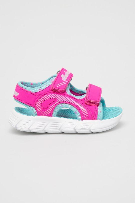 ostrá růžová Skechers - Dětské sandály Dívčí