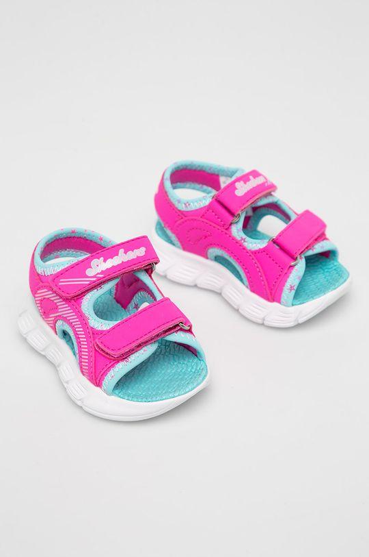 Skechers - Dětské sandály ostrá růžová