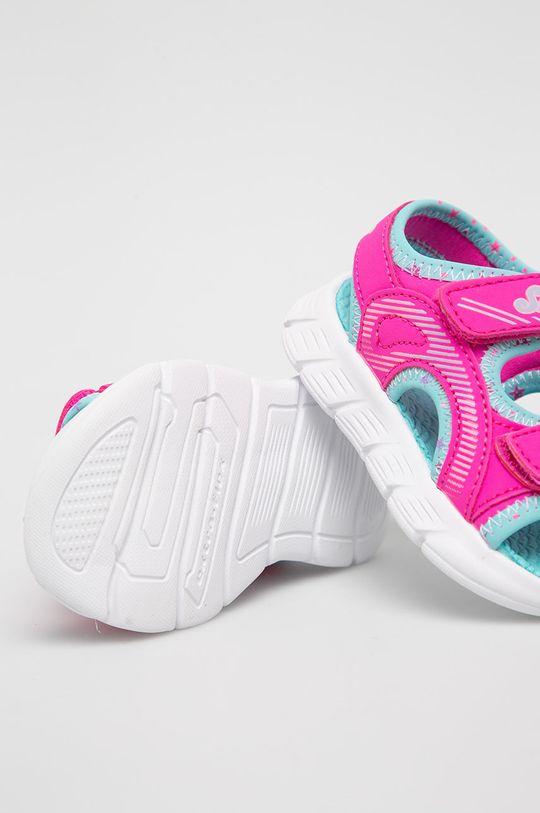 ostrá růžová Skechers - Dětské sandály