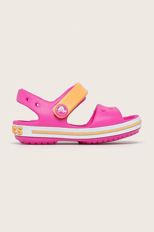 fuchsiová Crocs - Dětské sandály Dívčí