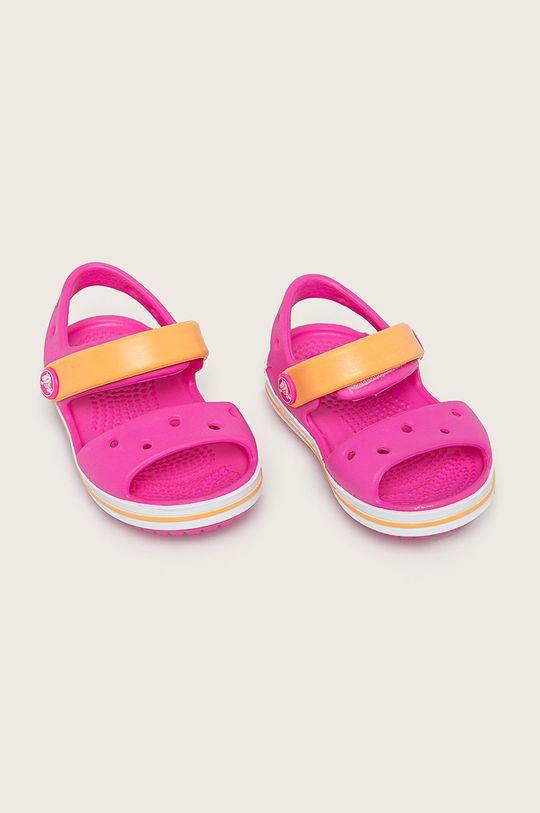 Crocs - Dětské sandály fuchsiová