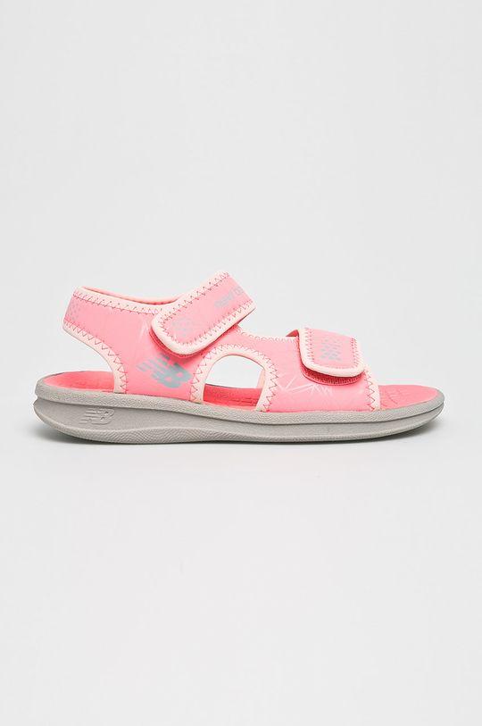 ružová New Balance - Detské sandále Dievčenský