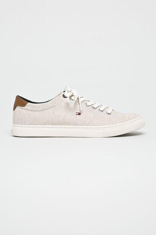 bézs Tommy Hilfiger - Sportcipő Seasonal Textile Sneaker Férfi