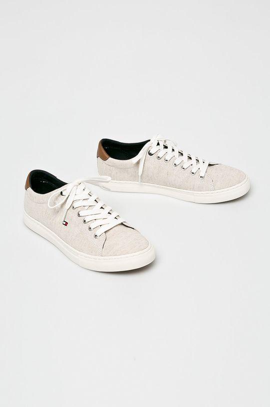 Tommy Hilfiger - Sportcipő Seasonal Textile Sneaker bézs
