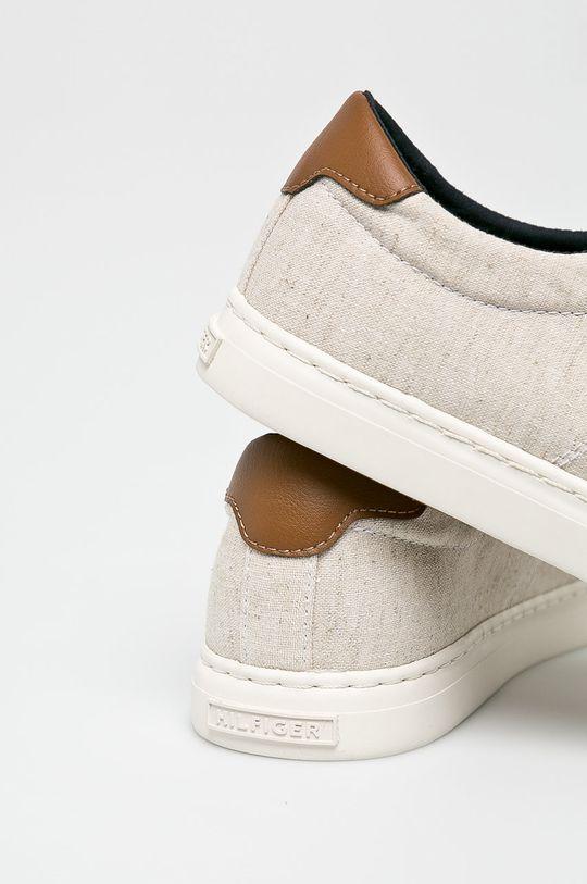 bézs Tommy Hilfiger - Sportcipő Seasonal Textile Sneaker