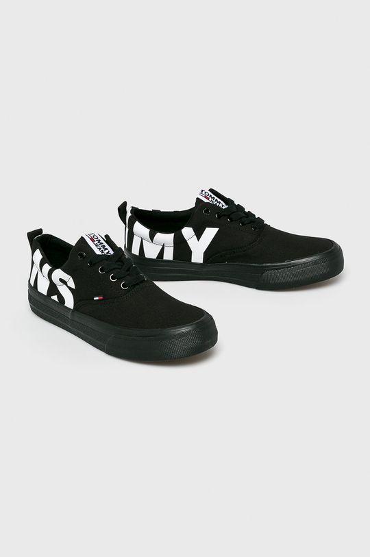 Tommy Jeans - Sportcipő Logo Classic Tommy Jeans Sneaker fekete