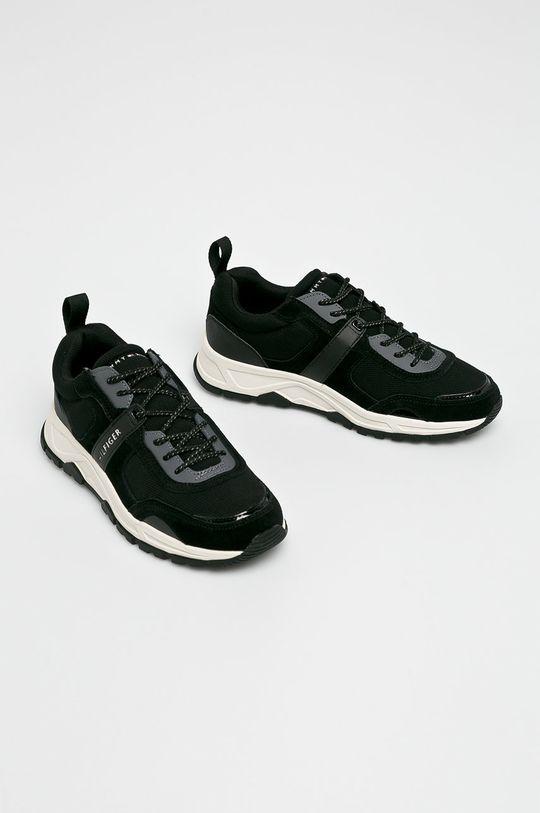 Tommy Hilfiger - Cipő Fashion Mix Sneaker fekete