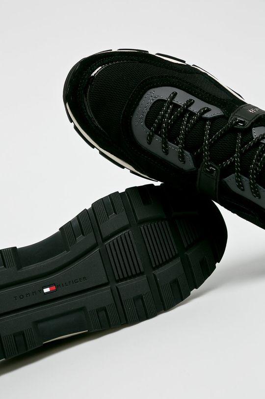 fekete Tommy Hilfiger - Cipő Fashion Mix Sneaker