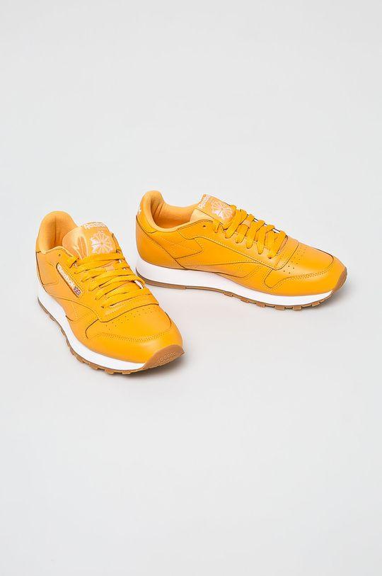 Reebok Classic - Cipő Cl Leather Mu sárga