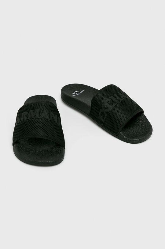 Armani Exchange - Šľapky čierna