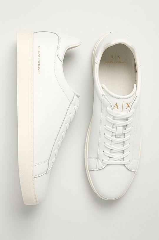 biały Armani Exchange - Buty XUX001.XV093