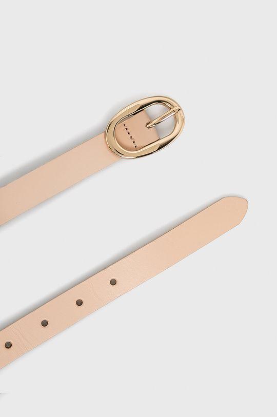 Pieces - Kožený pásek starorůžová