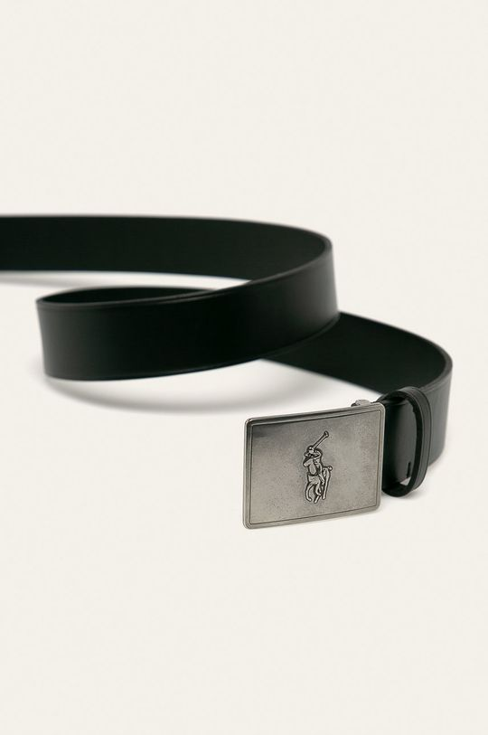 Polo Ralph Lauren - Kožený opasok čierna