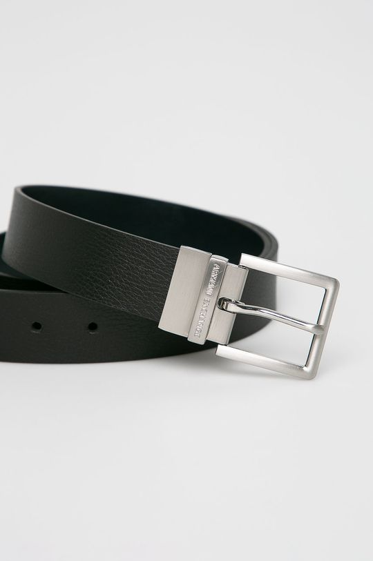 Armani Exchange - Kožený pásek černá