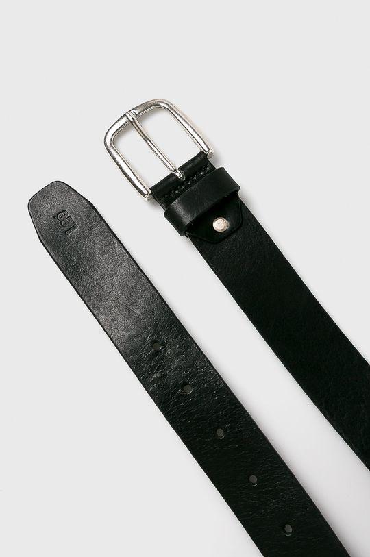 Lee - Pasek skórzany czarny