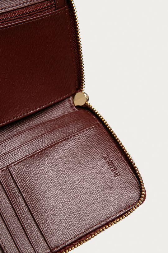 Dkny - Kožená peněženka hnědá