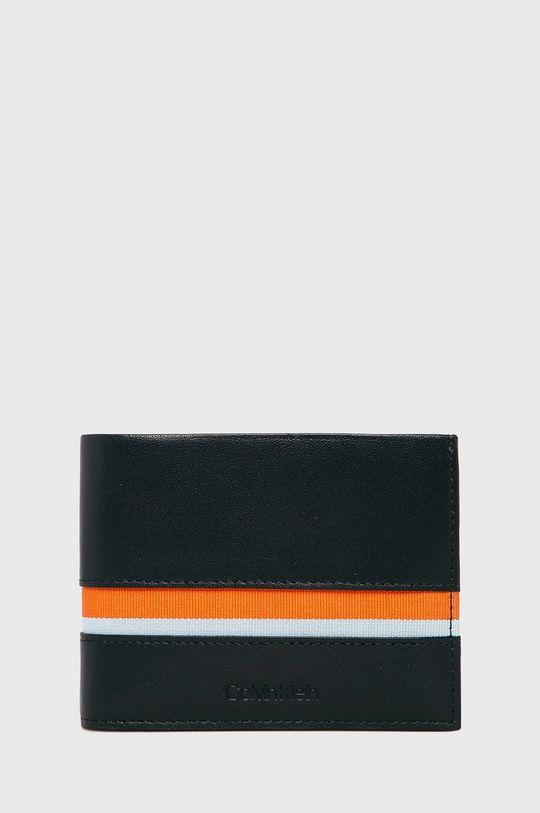 tmavomodrá Calvin Klein - Kožená peňaženka Pánsky