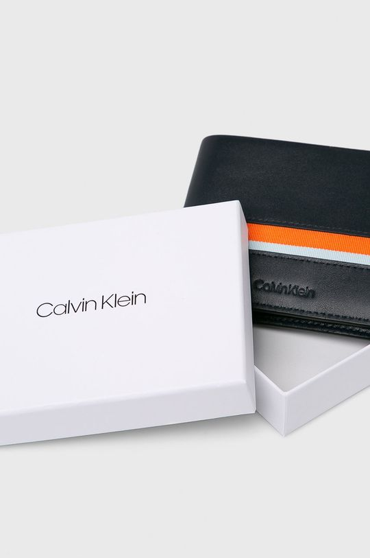 tmavomodrá Calvin Klein - Kožená peňaženka