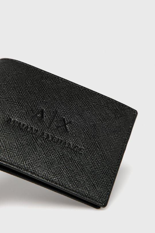 čierna Armani Exchange - Kožená peňaženka Pánsky