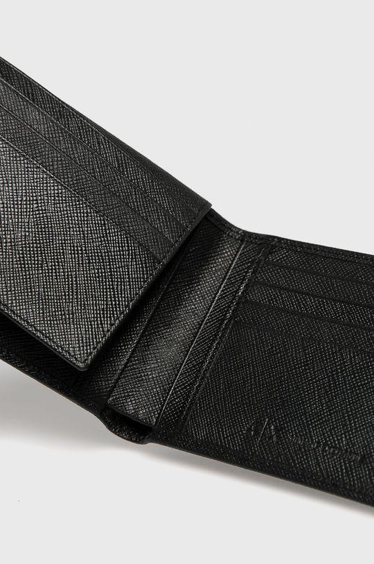 Armani Exchange - Kožená peňaženka čierna