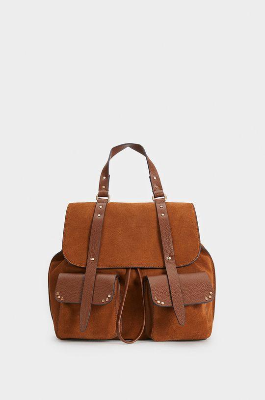 Parfois - Kožený batoh žlutá