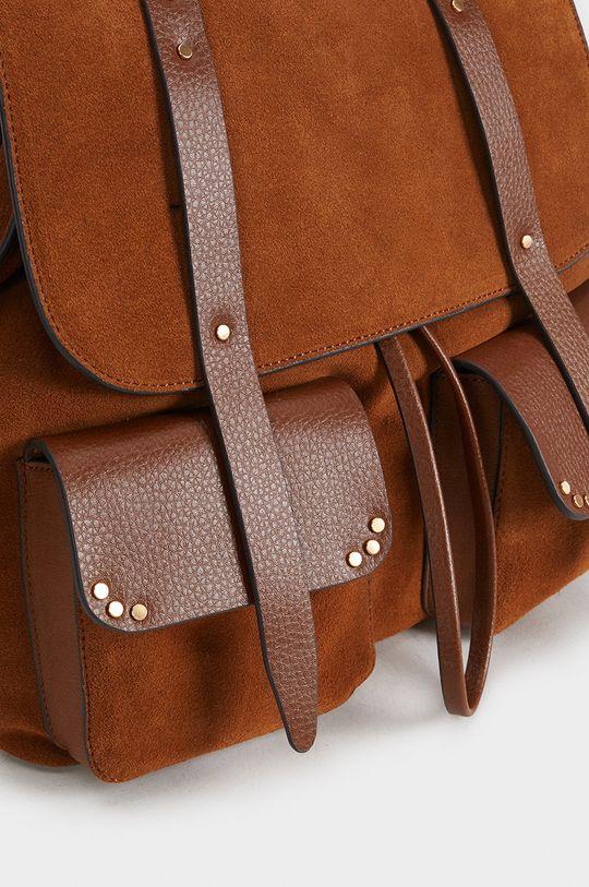 Parfois - Kožený batoh Podšívka: 100% Polyester Hlavní materiál: 40% Polyuretan, 60% Semišová kůže